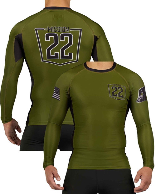 Fuji Mission 22 Military Green Long Sleeve Rashguard