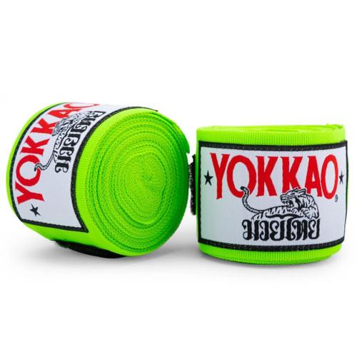 YOKKAO MUAY THAI HAND WRAPS GREEN NEON