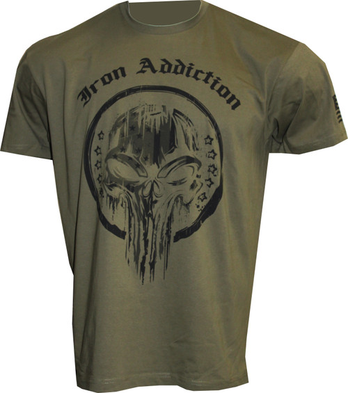 Iron Addiction American Skull Shirt