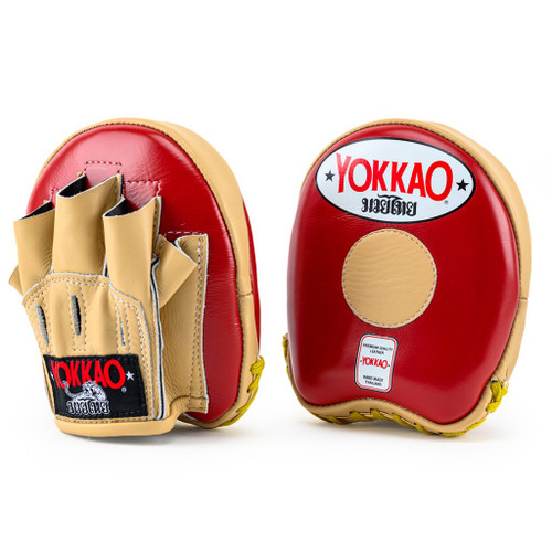 YOKKAO FOCUS MITTS SMALL VINTAGE RED