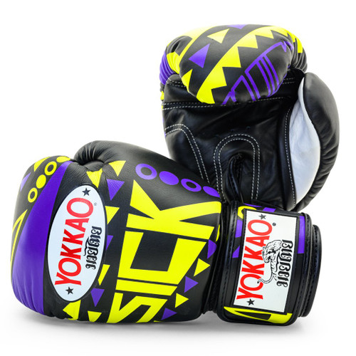 YOKKAO SICK MUAY THAI BOXING GLOVES VIOLET/YELLOW