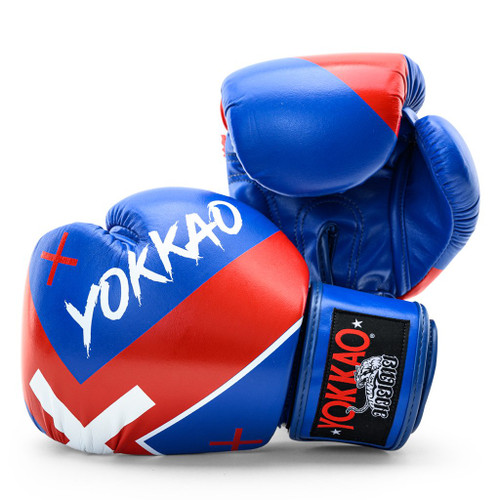 YOKKAO X-BLUE MUAY THAI BOXING GLOVES