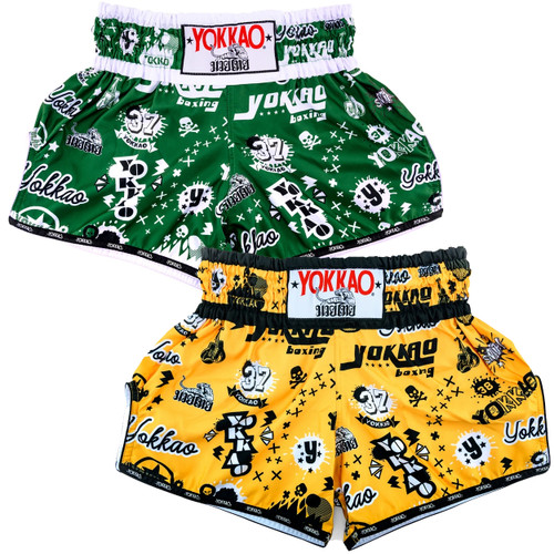 YOKKAO ROCK'N'ROLLA CARBONFIT MUAY THAI SHORTS