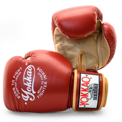 YOKKAO VINTAGE RED MUAY THAI BOXING GLOVES