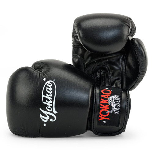 YOKKAO VERTIGO BLACK MUAY THAI GLOVES