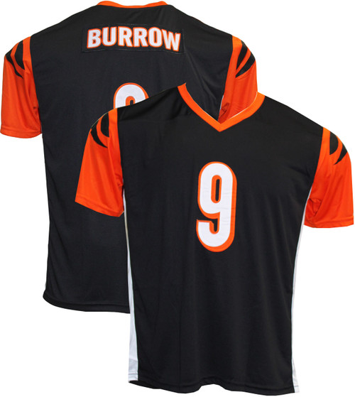 Joe Burrow Pro-Style Custom Stitched Black Cincinnati Bengals Jersey