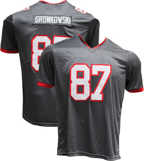 Rob Gronkowski Pro-Style Custom Stitched Charcoal Tampa Bay Buccaneers Jersey