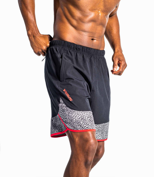 VIRUS ORIGIN V2 ACTIVE SHORT - BLACK