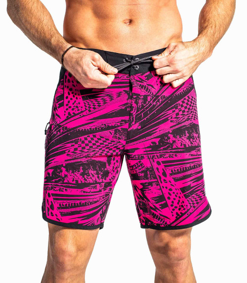 VIRUS AIRFLEX II BOARD SHORT- BLACK/HOT PINK