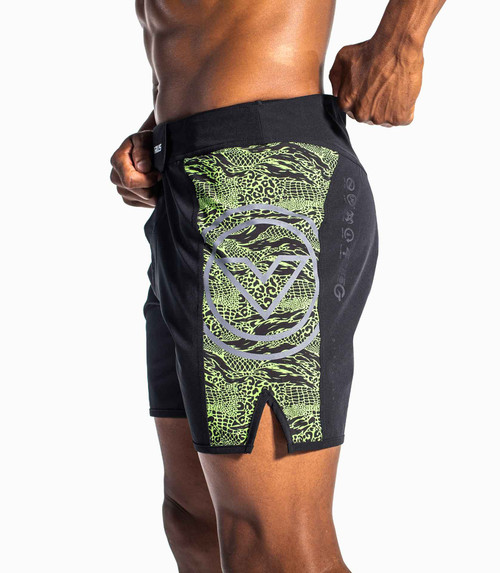VIRUS DISASTER 2 COMBAT SHORTS - BLACK/MONSTER GREEN