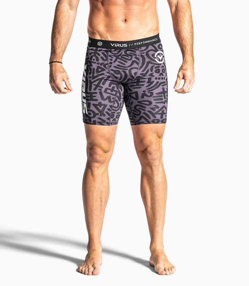 VIRUS CO14.5 TRIBAL SHORTS PURPLE/BLACK