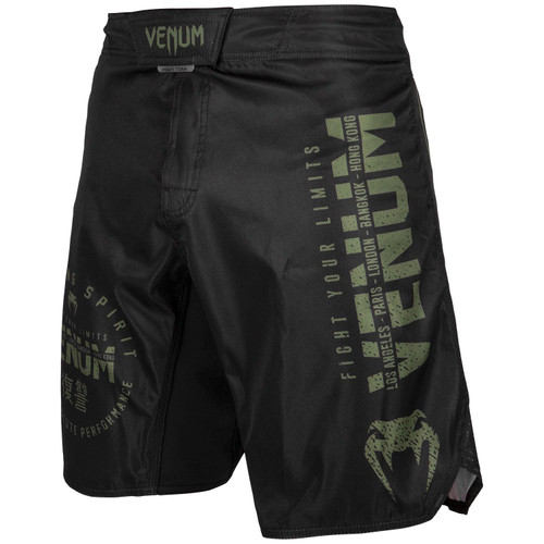 VENUM SIGNATURE FIGHTSHORTS - BLACK/KHAK