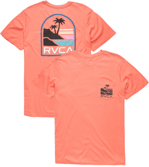 RVCA VISTA CORAL POCKET TEE