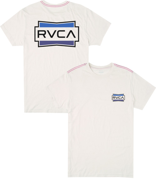 RVCA DEMO SHORT SLEEVE T-SHIRT ANTIQUE WHITE