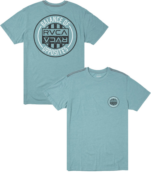 RVCA CURRENT SEAL SHORT SLEEVE TEE - BERMUDA BLUE
