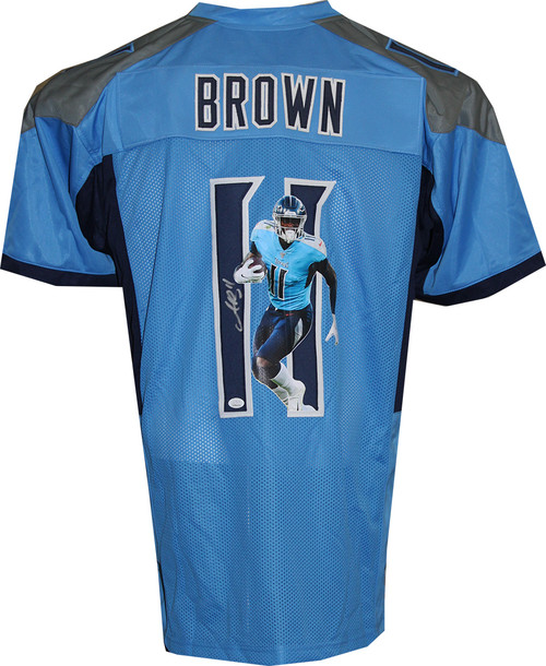 A. J. Brown Autographed Limited Edition Image Jersey