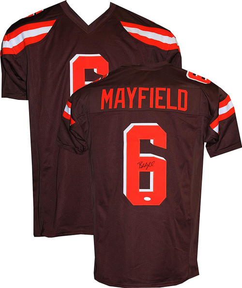 Baker Mayfield Autographed Custom Brown Rush Jersey (JSA COA)