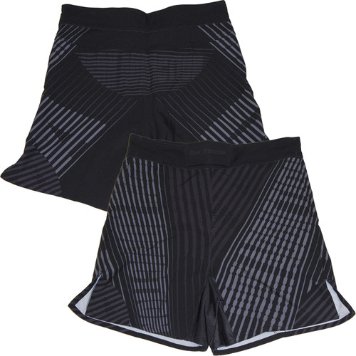 Iron Addiction Striped Haze Black Shorts