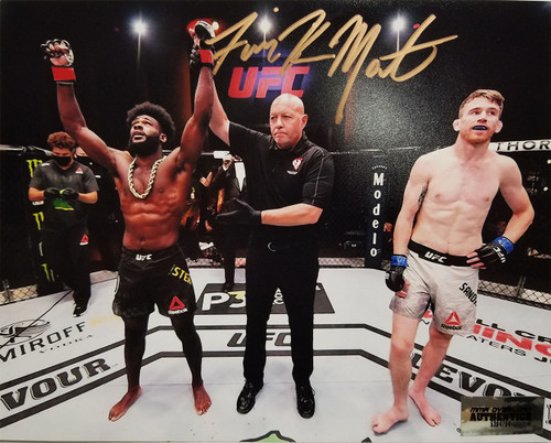 Aljamain Sterling Autographed 8x10 Signed in Gold
