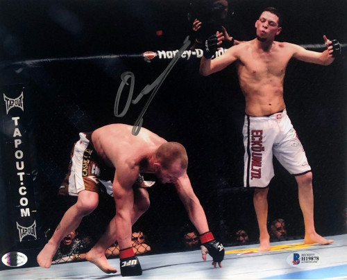 Nate Diaz Autographed 8x10 Beckett Authenticated