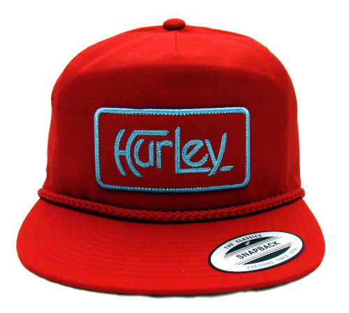 Hurley OG Flight Snapback Cap Hat Red