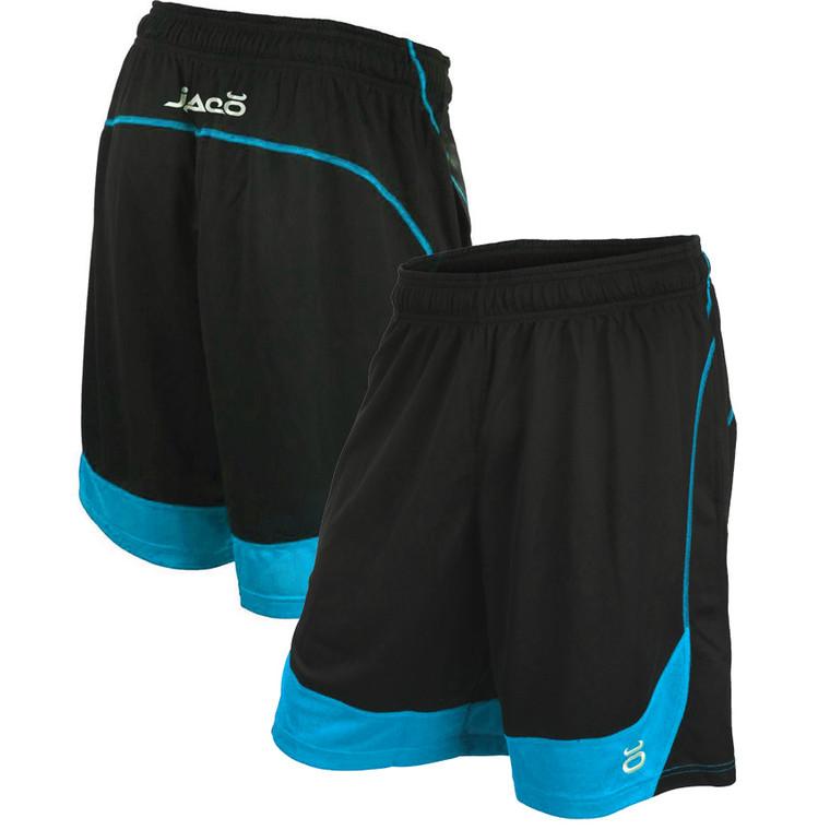 Jaco Twisted Mock Mesh BLACK/ BLUE Shorts