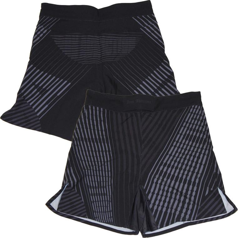Iron Addiction Striped Haze Black Shorts