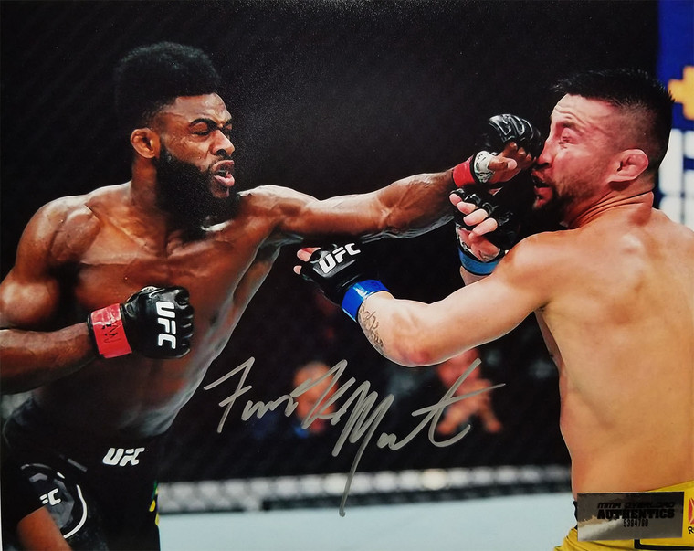 Aljamain Sterling Autographed 8x10 Signed in Silver