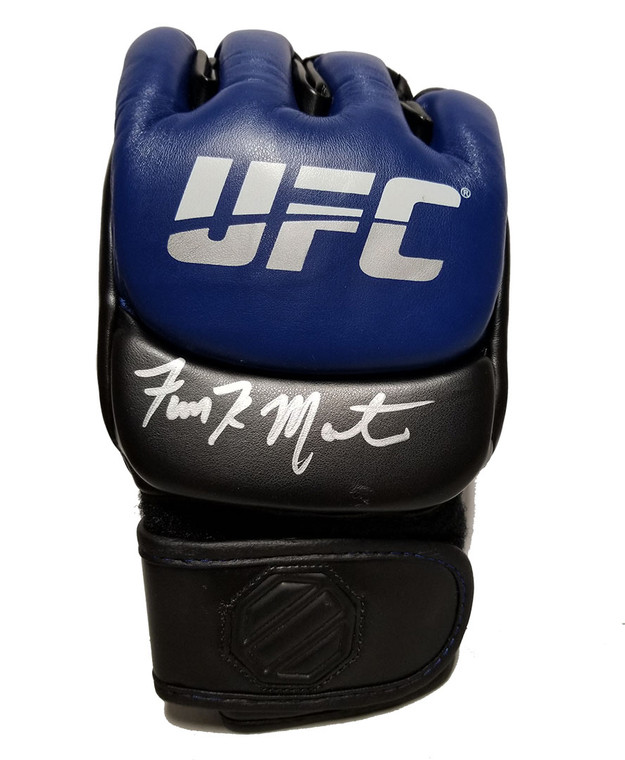 Aljamain Sterling Autographed Blue UFC Glove