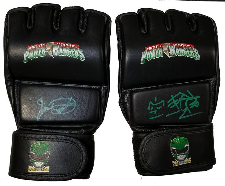 Jason David Frank Autographed Exclusive MMA Gloves (Beckett COA)