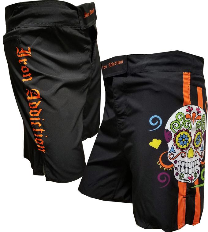 IRON ADDICTION DIA DE LOS MMA SHORTS