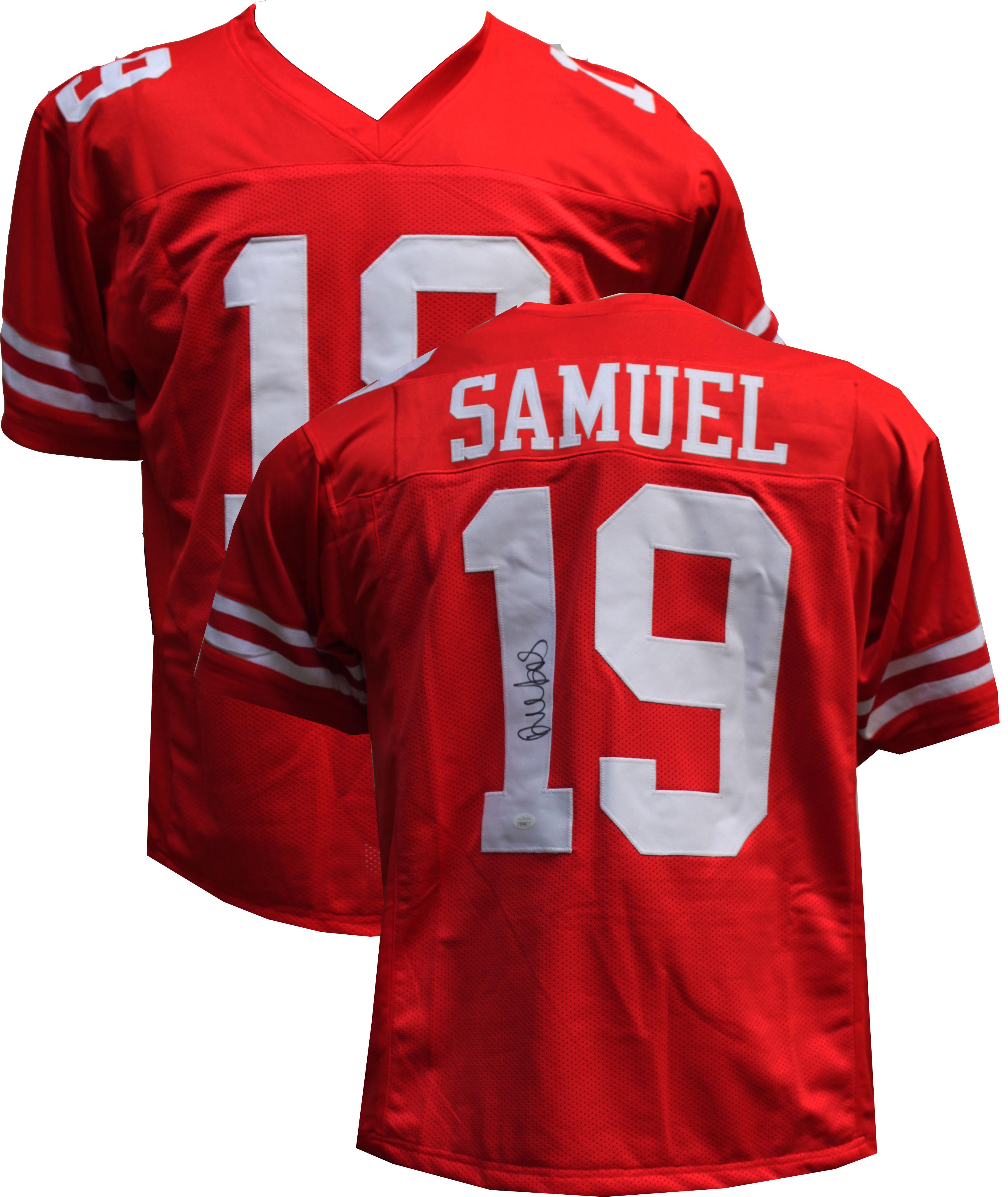 M,L,XL,2XL,3XL DEEBO SAMUEL San Francisco 49ers Unsigned Custom Red Sewn New Football Jersey Size S
