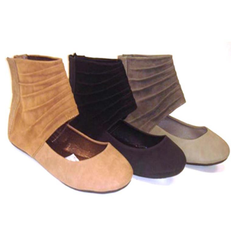Marilyn Moda Floss Ankle Cuff Ballet Flats