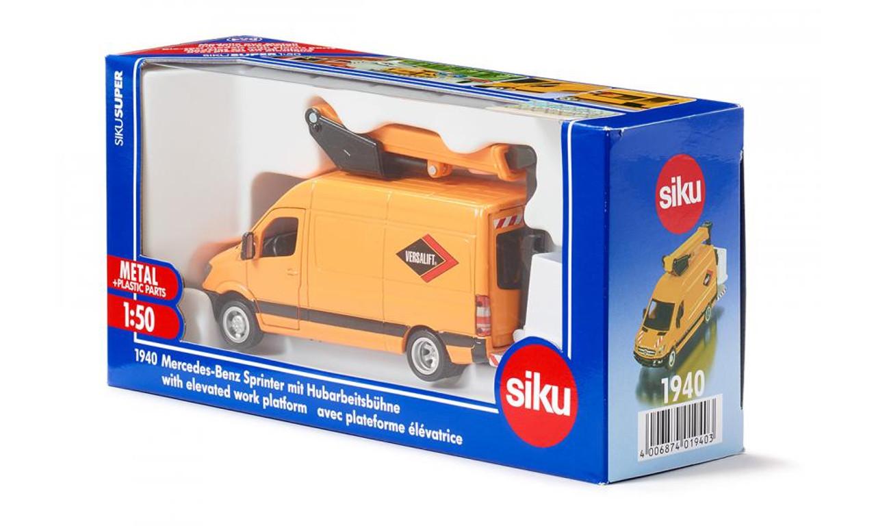 Siku Mercedes-Benz Sprinter mit Hubarbeitsbühne 1:50  1940  NEU Spielzeugautos
