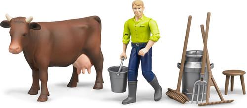 Bruder bWorld Farming Milking Set (62605)