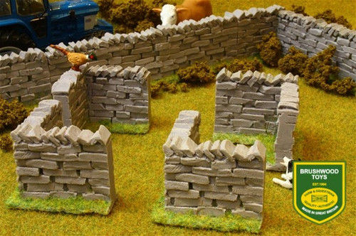 Brushwood AUTHENTIC STONE WALL CORNER SECTIONS (4 per pack) BT3007