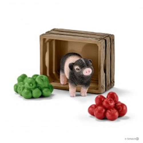Schleich Mini Pig with Apples (42922)