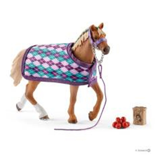 Schleich English Thoroughbred with Blanket Set (42360)