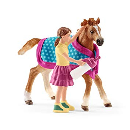 Schleich Foal with Blanket Set (42361)