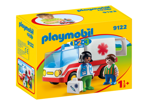 Playmboil 1.2.3 Rescue Ambulance (9122)