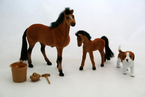 Pony World Horse & Foal Set (PW-1005)