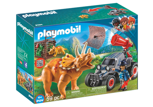 Playmobil Enemy Quad with Triceratops (9434)