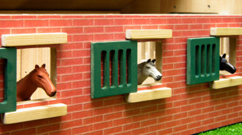 Cheval de Bois Ferme 3 HORSE BOX 1:24 0211 Kids GLOBE Horse Corner Stable