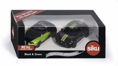 SIKU Special Edition - Black & Green Sports Car Set (6309)
