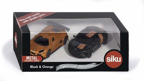 SIKU Special Edition - Black & Orange Sports Car Set (6310)