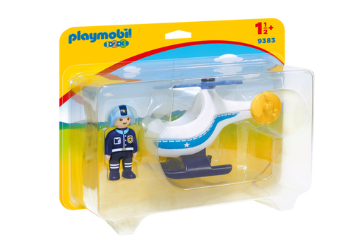 Playmobil 1.2.3 Police Copter (9383)