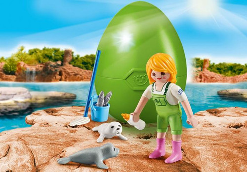 Playmobil Zookeeper with Seal Pups Gift Egg (9418)