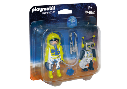 Playmobil Space Astronaut and Robot Duo Pack (9492)
