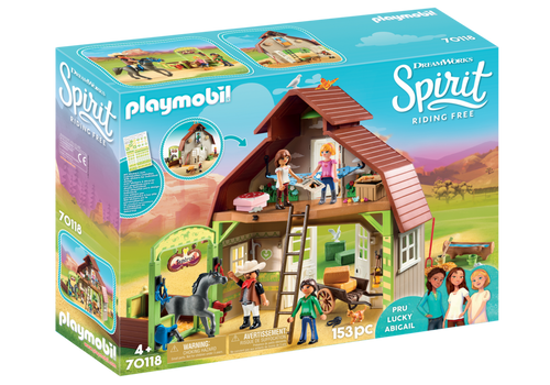 Playmobil Spirit Barn with Lucky, Pru & Abigail (70118)