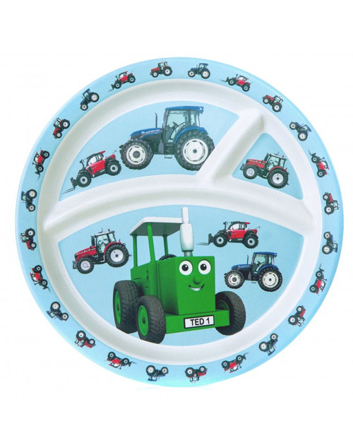 Tractor Ted Bamboo Divider Plate - Tractors